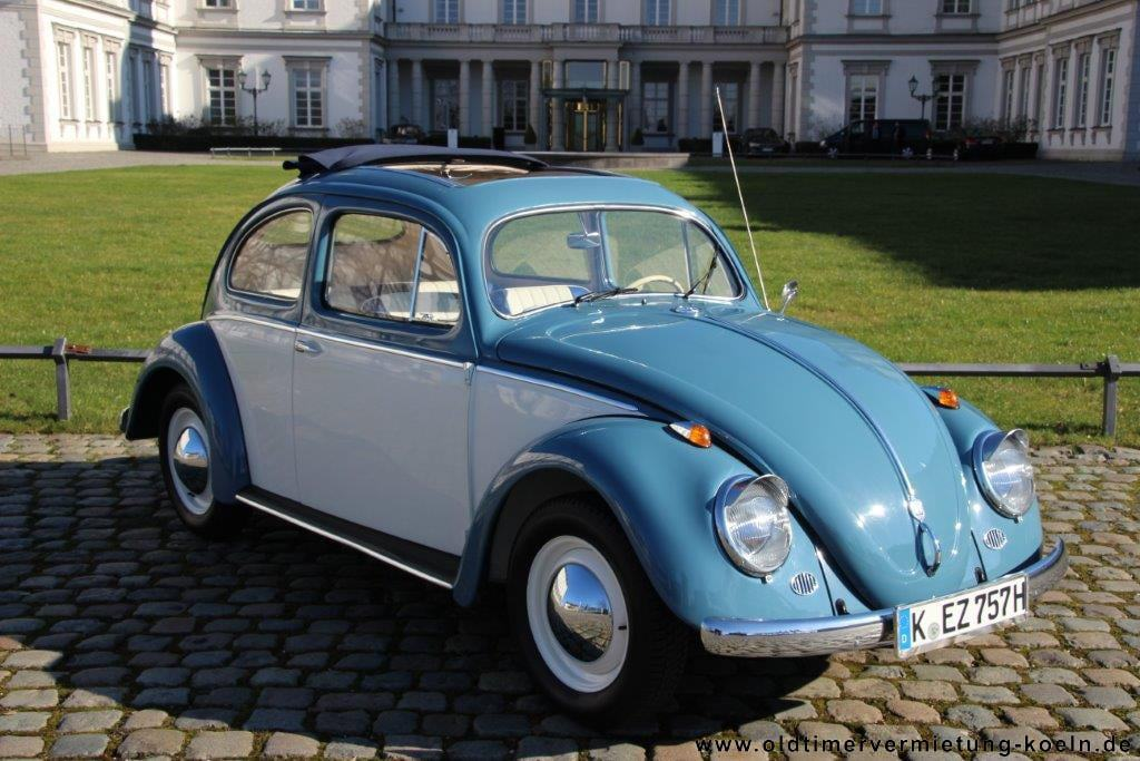 VW Brezelkäfer blau//weiss
